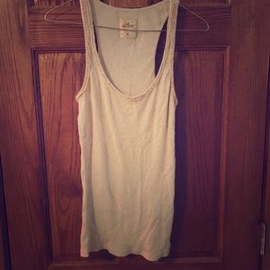Hollister Tank Top Oatmeal Color